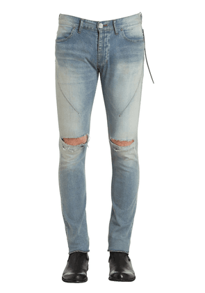 16cm Skinny Sky Blue Crash Denim Jeans
