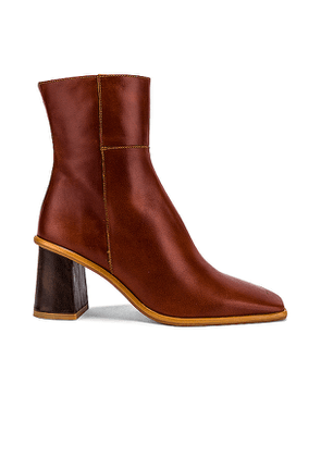 ALOHAS West Bootie in Cognac. Size 36,37,38,39.