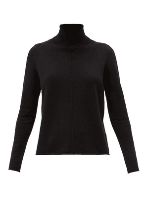 Allude - Roll-neck Cashmere Sweater - Womens - Black