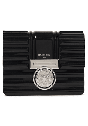 Balmain Textured-perspex Clutch Woman Black Size --