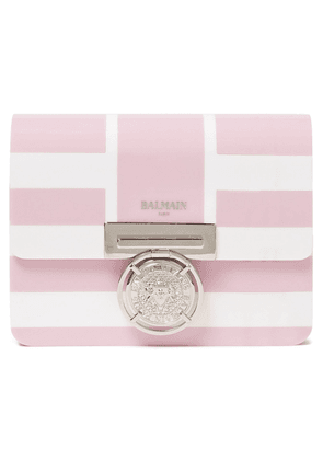 Balmain Striped Perspex Clutch Woman Baby pink Size --