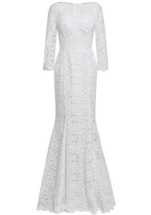Dolce & Gabbana Fluted Cotton-blend Corded Lace Gown Woman White Size 44
