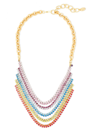 Elizabeth Cole Torrance Hematite And 24-karat Gold-plated Crystal Necklace Woman Multicolor Size --