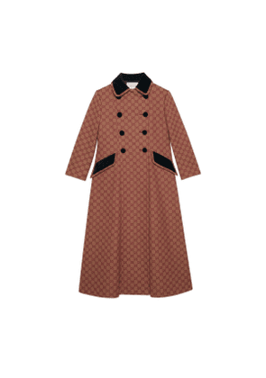 GG canvas coat with velvet details