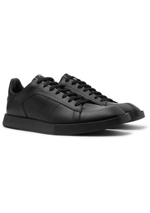 Berluti - Logo-Print Leather Sneakers - Men - Black
