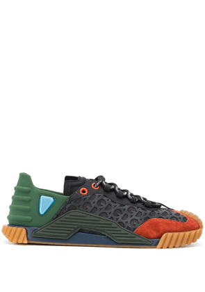 Dolce & Gabbana colour-block lace-up trainers - Green