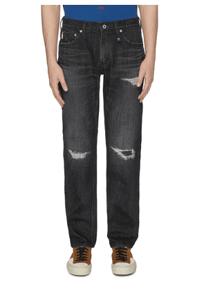 'CS70' ripped and repaired jeans