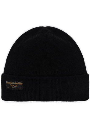 Gucci Vintage ribbed beanie - Black