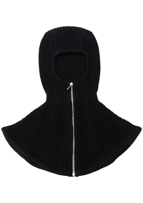 Gucci zip-up knitted balaclava - Black