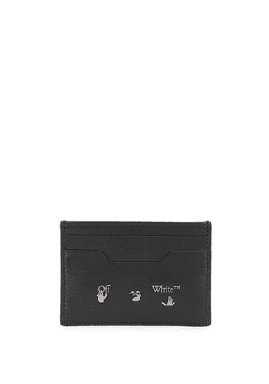 Off-White NEW CARD HOLDER BLACK SILVER