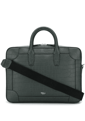 Mulberry crocodile effect leather carry bag - Green