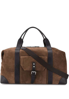 Eleventy large buckled holdall - Brown
