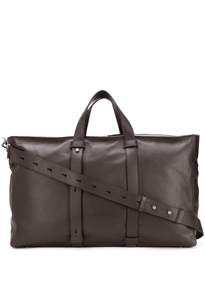 Orciani large leather duffle bag - Brown