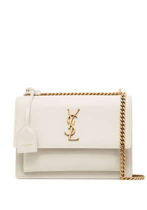Saint Laurent medium Sunset satchel bag - White