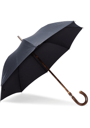 KINGSMAN - London Undercover Pinstriped Chestnut Wood-Handle Umbrella - Men - Blue - one size