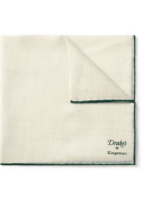 Kingsman - Drake's Wool and Silk-Blend Pocket Square - Men - Neutrals