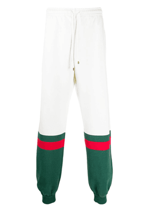 Gucci extra-long track pants - White