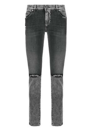 Dolce & Gabbana distressed skinny jeans - Black