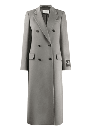 Gucci double-breasted wool coat - Grey
