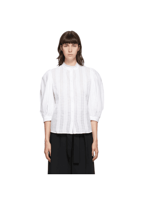 See by Chloe White Voile Puff Sleeve Blouse