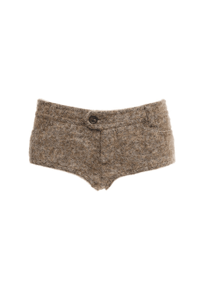 Wool Knit Mini Shorts