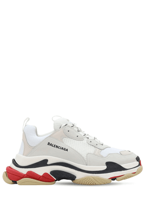 Triple S Suede, Leather & Mesh Sneakers