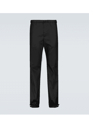 Nylon cuffed drawstring pants