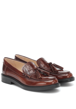 Tassel leather loafers