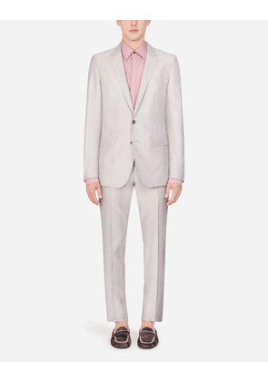 Dolce & Gabbana Suits - WOOL AND SILK MARTINI SUIT PINK male 44