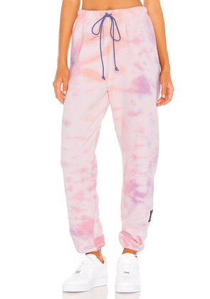 DANZY Tie Dye Collection Sweatpants in Pink. Size M,XS.