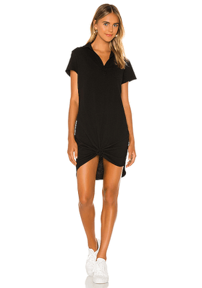 Frank & Eileen Short Sleeve Polo Dress in Black. Size S,XS.