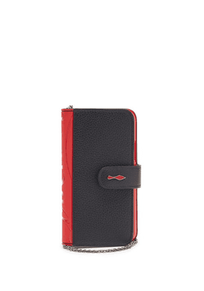 Christian Louboutin - Loubiflap Iphone® 11 Pro Leather Phone Case - Womens - Black Red