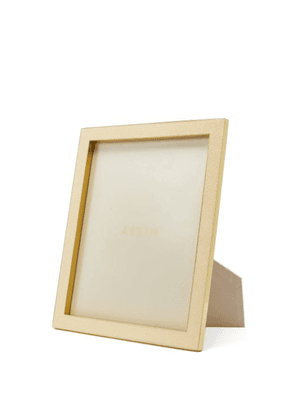 Aerin - Shagreen-faced Brass Picture Frame - Ivory