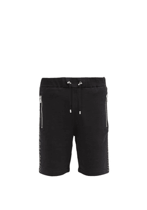 Balmain - Logo-print Cotton-jersey Sweat Shorts - Mens - Black