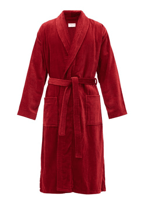 Derek Rose - Triton Cotton-velour Bathrobe - Mens - Red