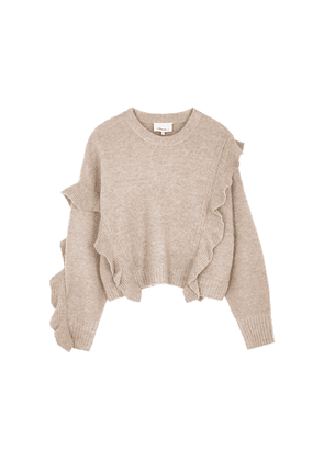 3.1 Phillip Lim Taupe Ruffle-trimmed Jumper