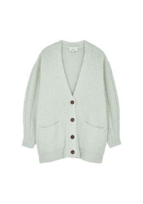 3.1 Phillip Lim Mint Brushed Knitted Cardigan