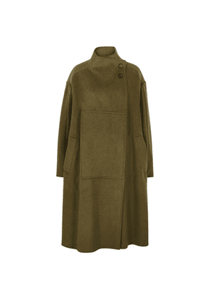 3.1 Phillip Lim Army Green Melton Wool-blend Coat
