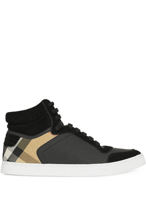 Burberry House Check high-top sneakers - Black