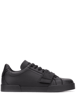 Dolce & Gabbana touch strap lace-up sneakers - Black
