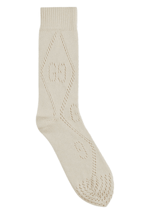 Gucci GG perforated socks - White