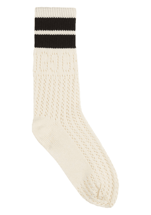 Gucci stripe-detail socks - White