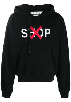 Off-White graphic-print cotton hoodie - Black