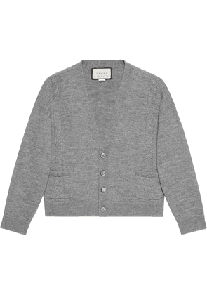 Gucci cable knit cardigan - Grey