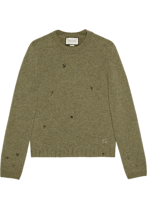 Gucci square G felted wool jumper - Green