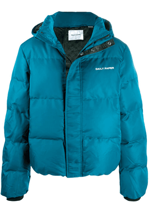 Daily Paper quilted puffer jacket - Blue