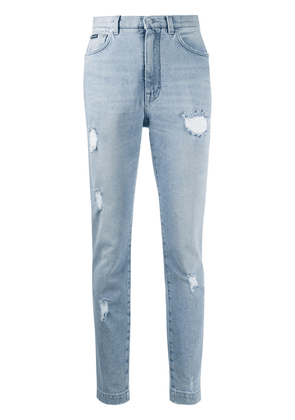 Dolce & Gabbana distressed skinny-fit jeans - Blue