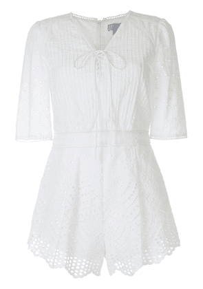 We Are Kindred Lua broderie anglaise playsuit - White