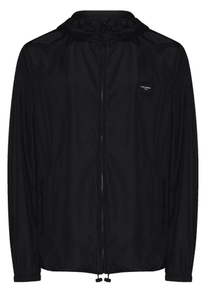 Dolce & Gabbana logo-plaque hooded jacket - Black