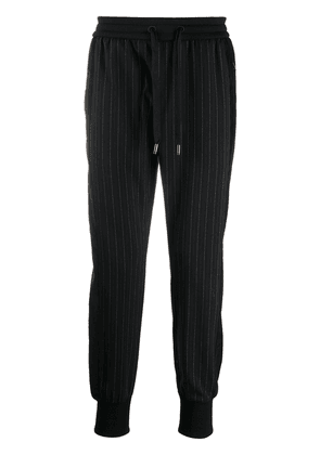Dolce & Gabbana pinstripe slim-fit trackpants - Black
